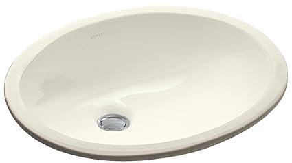 Beau KOHLER K 2209 96 Caxton Undercounter Bathroom Sink, Biscuit