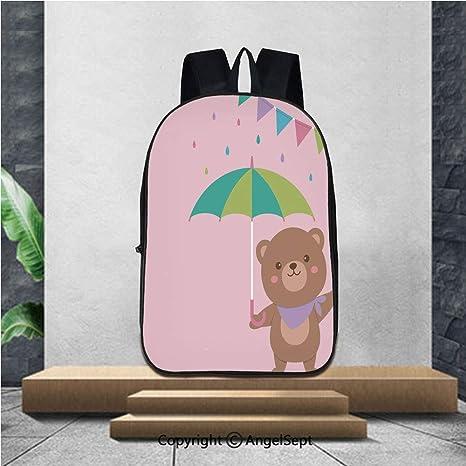 Amazon Com School Backpack Cute Teddy Bear Vector