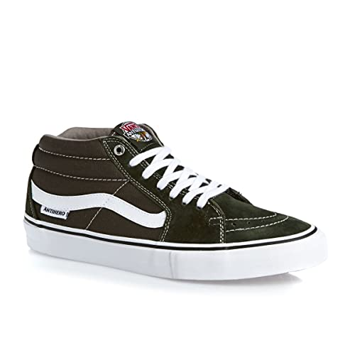 3b7be3a8c9 Vans SK8-MID Pro (Anti Hero) Green Grosso Skateboard Shoes-Men 9.5 ...