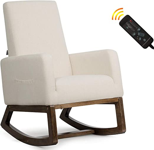 Amazon Com Giantex Rocking Chair Upholstered Living Room Chair