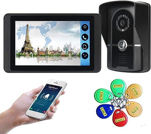 FCHDZ Videoportero Timbre Intercomunicador Monitor Timbre Pantalla ...