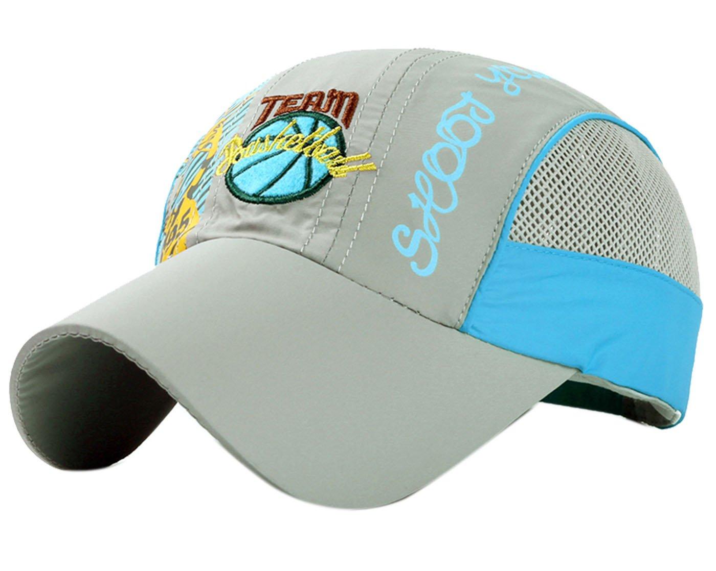Panegy Lightweight Hat for Kids Toddler Cotton Quick Dry Sun Hat Baseball Cap Grey