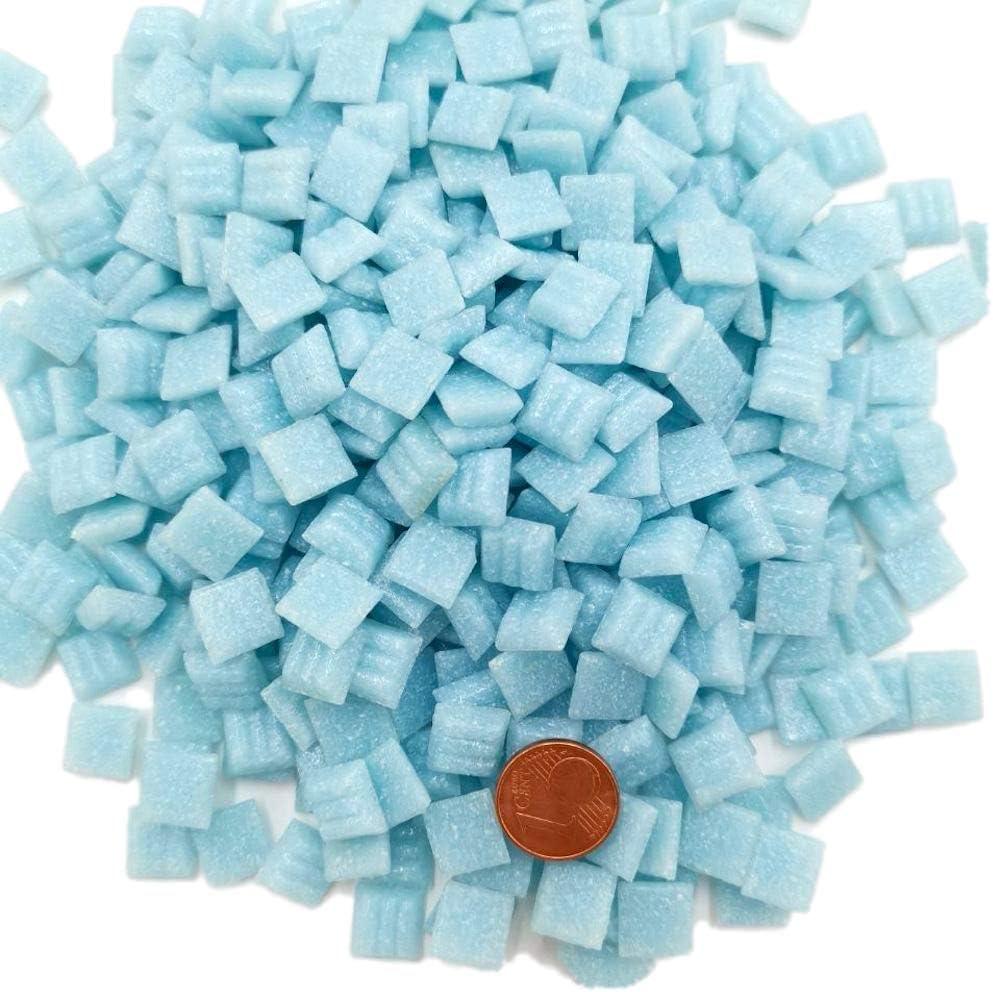 Armena Lot de 420 Pierres de mosa/ïque Bleu 300 g 1 x 1 cm Env 2 x 150 g de Pet 420 pi/èces