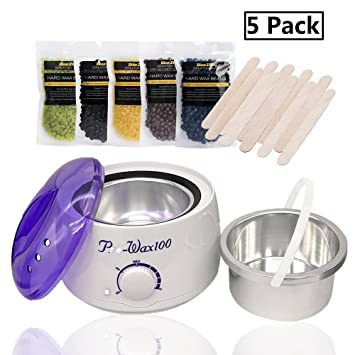 Amazon bluezoo waxing kit electric wax warmer with hard wax bluezoo waxing kit electric wax warmer with hard wax beans 5 pack 5 flavor solutioingenieria Gallery