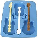 Moule en forme de guitare acoustique en silicone pour des chocolats, des gâteaux, des glaçons et des jellies