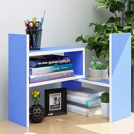 CKH Estantería Recomendado Escritorio Pequeño Estantería Librería Mesa de combinación Rack de Almacenamiento Escritorio Rack de Almacenamiento Azul: Amazon.es: Hogar