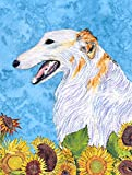 Caroline's Treasures SS4244GF Borzoi Flag, Small, Multicolor