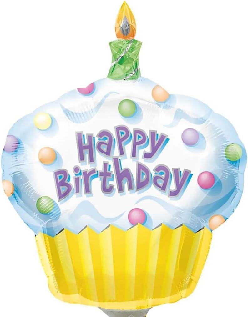 "Girls 1st Birthday Girl Cupcake Super-shape Helium Quality Balloon  29/"""