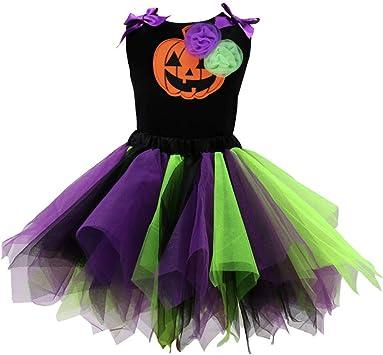 QSEFT: Disfraz de Halloween para niña, Disfraz de tutú para ...