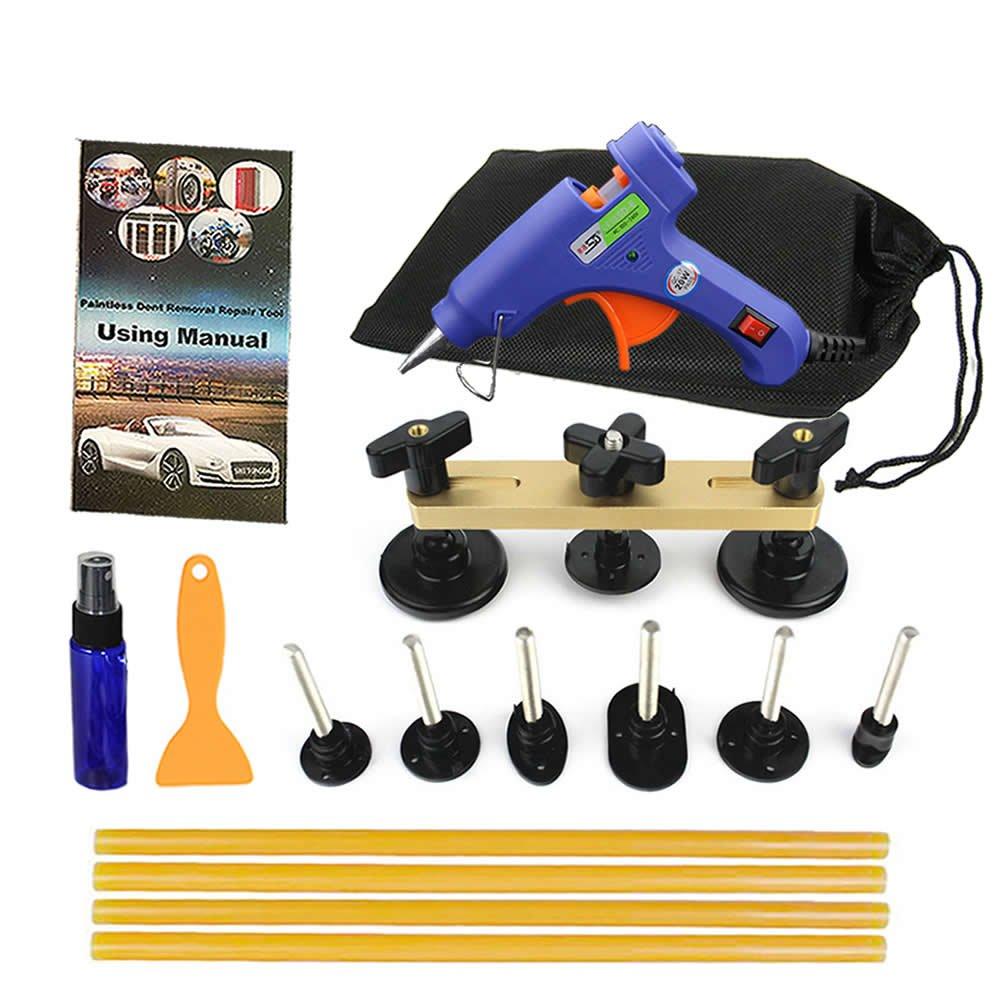 SHITONGDA Car Dent Puller Paintless Dent Repair Removal kit Hail Puller Tool Bridge Kit Set