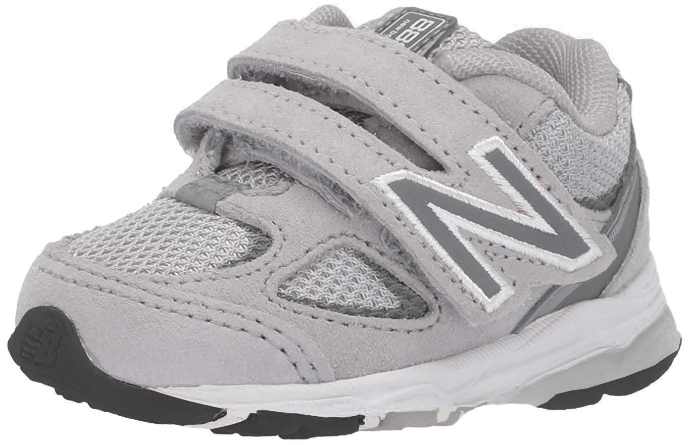 New Balance Boys' 888v2 Hook and Loop Running Shoe Grey, 8.5 M US Toddler by New Balance