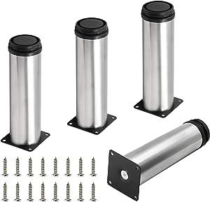 Seimneire 4pcs Adjustable Metal Furniture Legs, 2