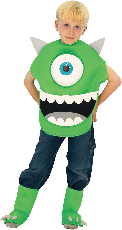 Amazon Com Disney Monsters Inc Costume Mike Wazowski Costume Toddler Size Clothing