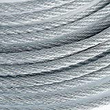 3/16'' 4200lb Galvanized Aircraft Cable Steel Wire Rope 7x19 (750 Feet)