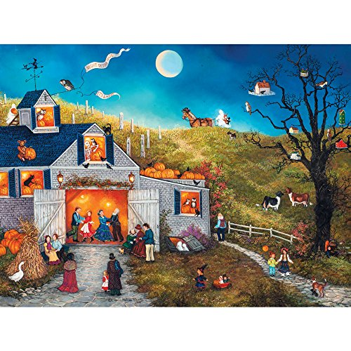 Bits and Pieces - 1000 Piece Jigsaw Puzzle for Adults - Night Of The Owl - 1000 pc Halloween Pumpkin Jigsaw by Artist Linda Nelson Stocks ()