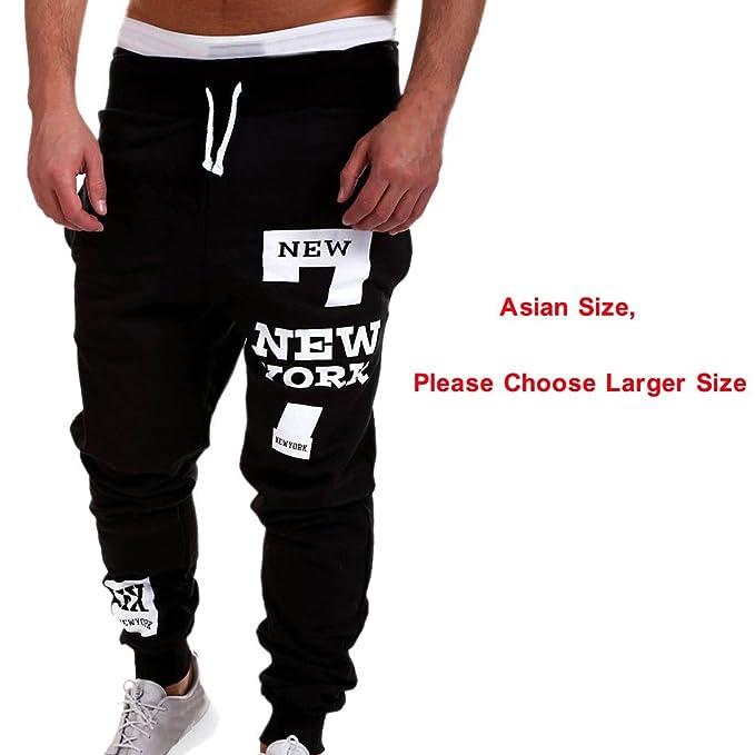 60e70e6aea Ankola Men s Casual Trousers Pants Mens Letter Print Jogger ...