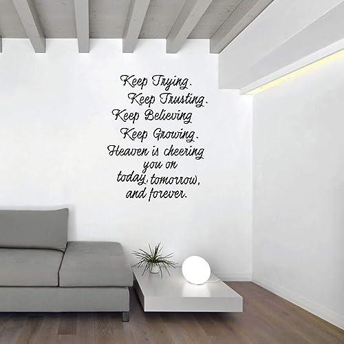 Amazoncom Heaven Wall Decor Motivational Quote Keep