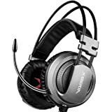 XIBERIA V10 Cuffie Gaming 3.5mm Suono surround Over-Ear Auricolari con Microfono per PS4/ XBOX ONE/ PC - Grigio