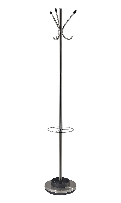 Adesso WK2048-22 Quatro Umbrella Stand/Coat Rack, Champagne Steel ADS-WK2048