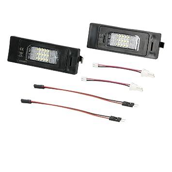 Do!LED 16Z207 LED Kennzeichenbeleuchtung Xenon Weiss mit E Pr/üfzeichen