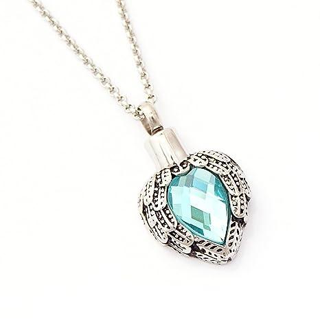 Zahara Memorial Urn Necklace (20 Inches) with Velvet Pouch & Fill Kit vr9thxhN7