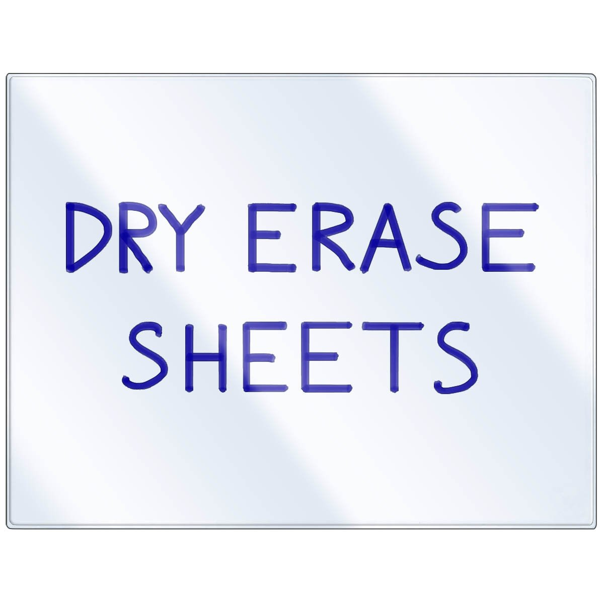 StoreSMART - Dry Erase Clear Adhesive Sheets - 50-Pack - DE1175-50