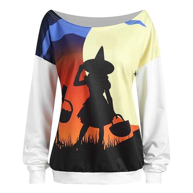 JYC-Sudaderas Camisa de Mujer Denim,Blusas para Mujer Vaquera,Manga Larga de Cuello Redondo,Blusas para Mujer Vaquera,Blanco,L: Amazon.es: Ropa y accesorios