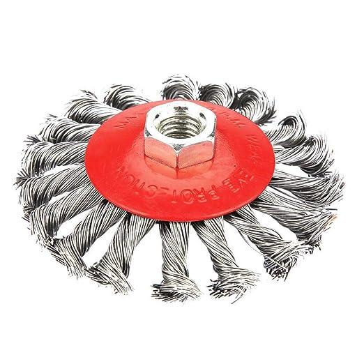 Zerone Pulido Rueda de Cepillo de Alambre de Acero Pulido para Molino Herramienta Rotativa: Amazon.es: Bricolaje y herramientas