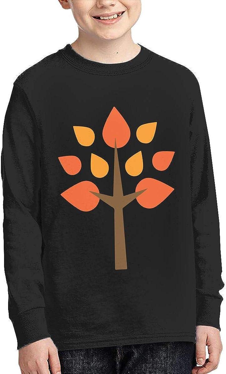 Teenagers Teen Girl Graphic Color Tree Printed Long Sleeve 100/% Cotton Tee Shirt