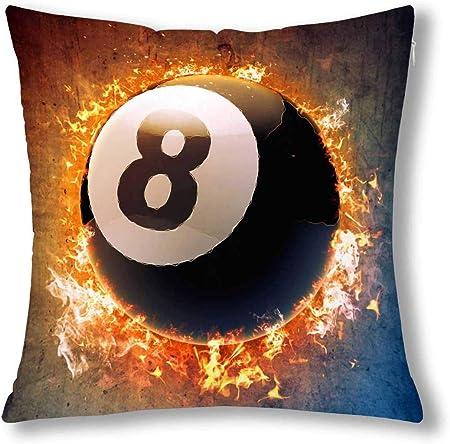 Cute Bi Cool Billar Pool Snooker Ball in Space Cojín Decorativo Funda de Almohada Funda de 18x18 Pulgadas Decoración Square Funda de Almohada con Cremallera Protector: Amazon.es: Hogar