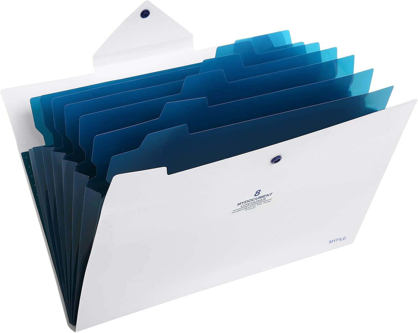 Skydue Office File Folders with 8 Pockets Letter Size Expanding Accordion Document Paper File Organizer (White)