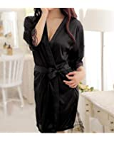 Love Healthy Fancy Autumn Women Nightgown Sleepshirts Satin Lace Patchwork Long Sleeve Soft Night Dress Sexy