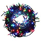 200 LEDS Battery Operated String Lights, 20M/66FT Waterproof Outdoor LED ...