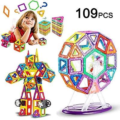 Livehitop 109 Pezzi Costruzioni Magnetiche Per Bambini Grandi Magnetica Costruzione Blocchi Giochi Educativi Creativi 3d Diy Giocattoli Regalo Per Giorno Dei Bambini E Adulti