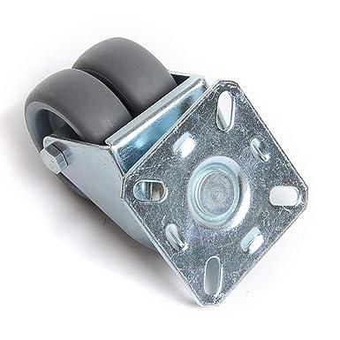 roulettes pivotantes de roulettes de Transport Roues avec Frein /à roulement /à Rouleaux Economique pour sols irr/éguliers de silencieuse Non tachant 50mm Activit/é 1 Pi/èces
