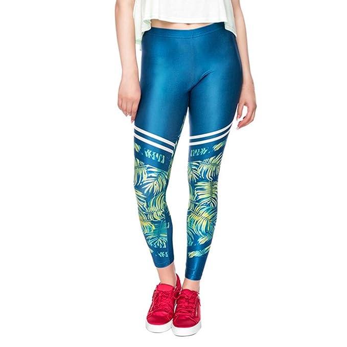 OHQ Pantalon De Yoga❤️Pantalon De Yoga Imprimé Pour Femme Vert Leggings  D EntraîNement 52910b3fa6a