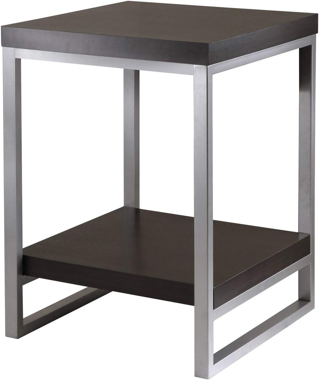 Winsome Wood Jared End Table, Espresso Finish: Furniture & Decor