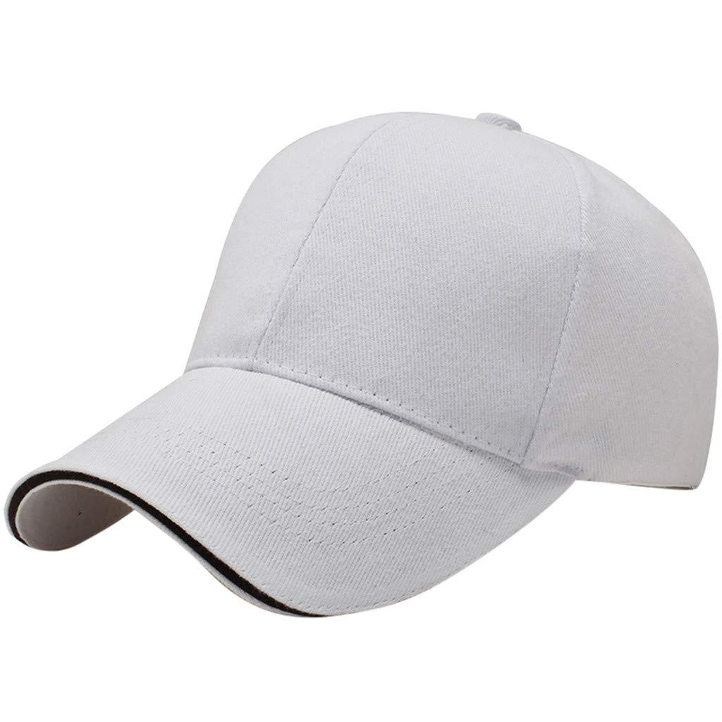 GreatestPAK Unisex Solid Color Baseball Cap Outdoor Sports Wind Summer Simple Solid Color Cover Cap