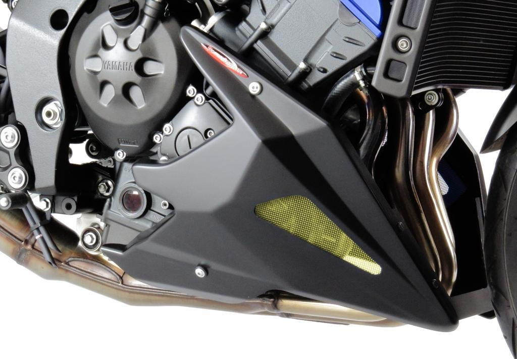 YAMAHA FZ-8N 10-15/FZ-8 FAZER 10-15/MATT BLACK-GOLD MESH NEW STYLE BELLY PAN Powerbronze
