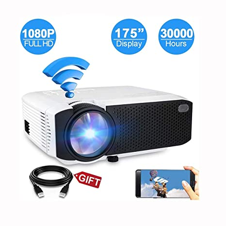Ai LIFE Proyector inalámbrico 4800Lux Mini proyector WiFi ...