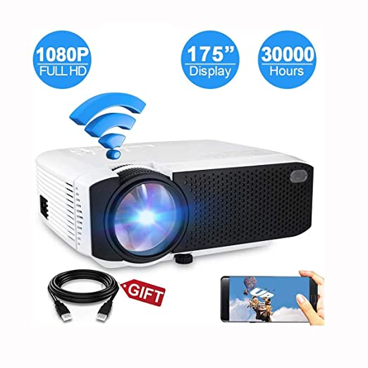 Ai LIFE Proyector inalámbrico 4800Lux Mini proyector WiFi 1080P HD ...