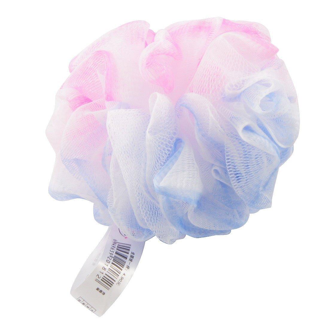 sourcingmap® Spugnetta a pallina in rete blu e viola per scrub alla pelle, per bagno e doccia US-SA-AJD-339793
