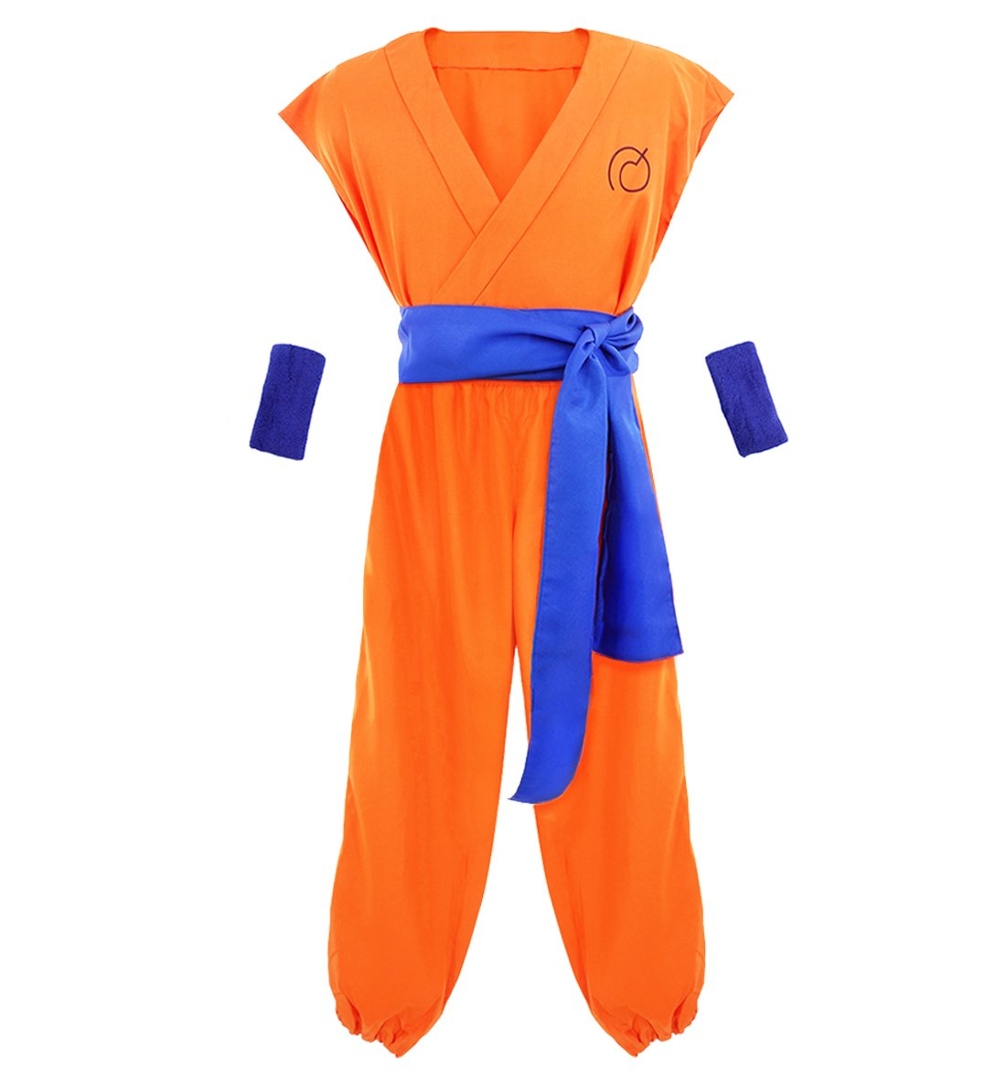 DAZCOS US Size Adult/Kids Yellow Son Goku Halloween Cosplay Costume (Child M)