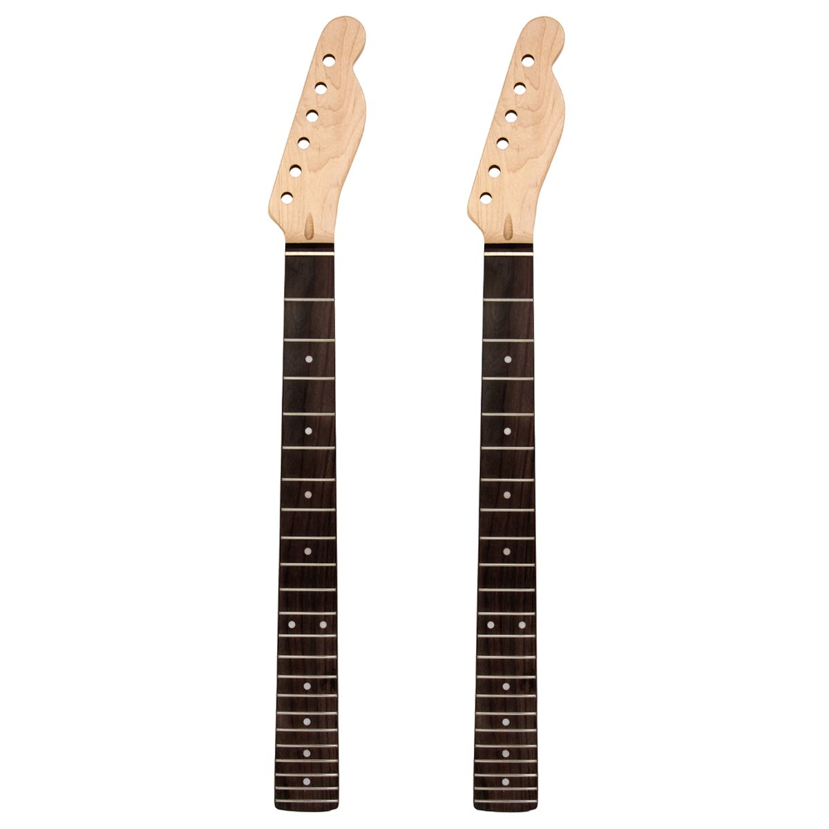2pcs Guitar Neck 22 Frets Maple Rosewod Inlay Back For Luthier Guitar Diy