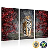 Kreative Arts - Large Size 3 Piece Canvas Wall Art Painting Tiger Pictures Prints On Canvas Animal The Picture Artwork For Home Modern Decoration Print Ready to Hang