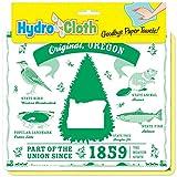 "Fiddler's Elbow Original, Oregon"" Hydro Cloth | Eco-friendly Sponge Cloths | Reusable Swedish Dish Cloths | Set of 2 printed Sponge Cloths| Kitchen, bath, auto | Replaces 30 rolls of paper towels"