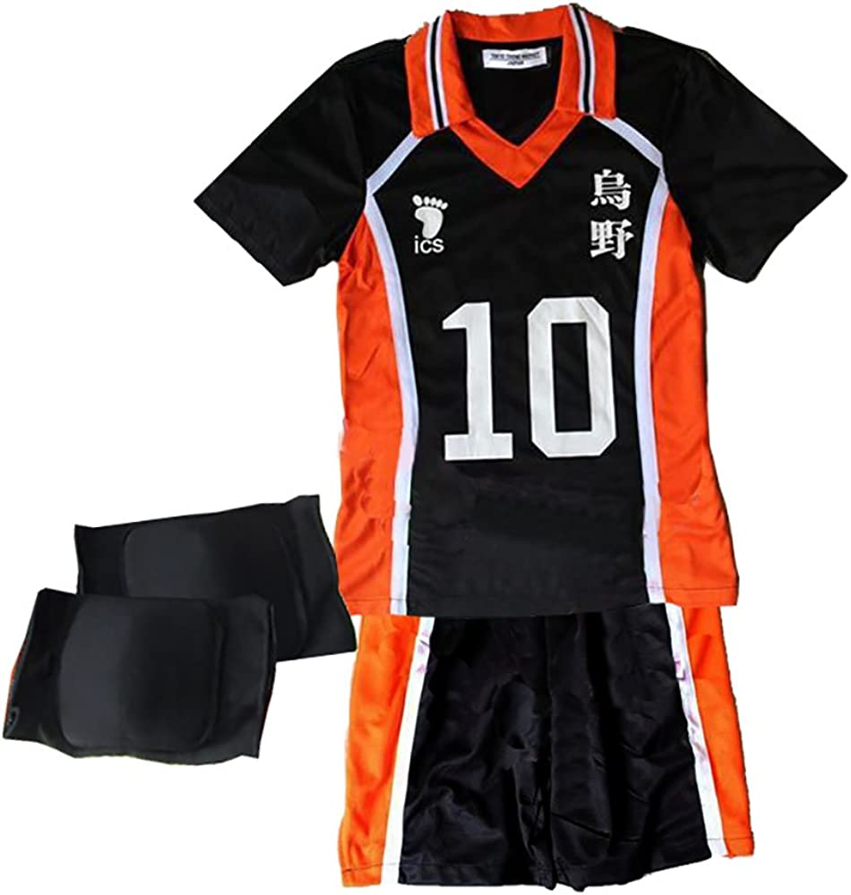 Haikyuu Karasuno Volleyball Hinata Shyouyou NO.10 Cosplay Jerseys Costumes Suit