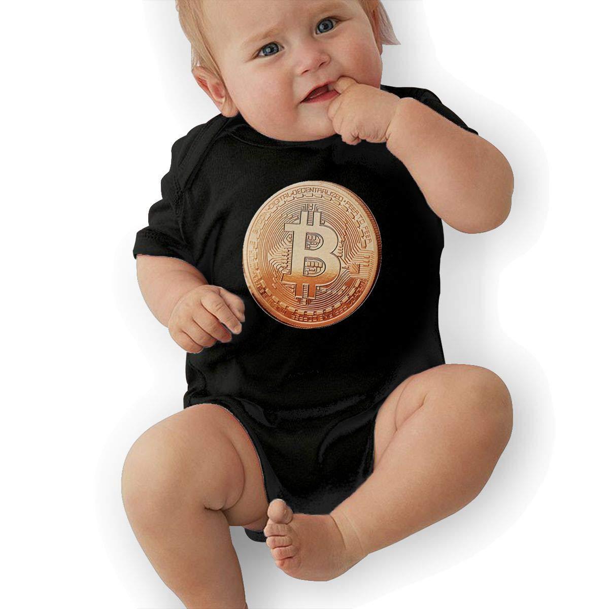 windekie Bitcoin Pattern Baby Onesies Toddler Baby Girl//Boy Unisex Clothes Romper Jumpsuit Bodysuit One Piece