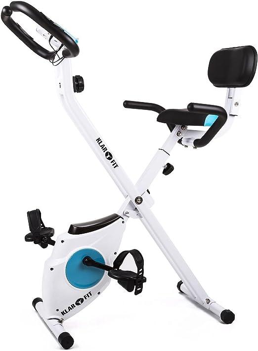 Klarfit Azura Pro Bicicleta Estática Plegable Respaldo Plegable ...