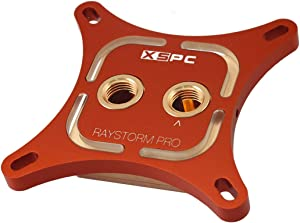 XSPC RayStorm Pro Red WaterBlock, Intel CPU, White LEDs